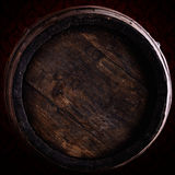 Wine barrel over vintage background Royalty Free Stock Images