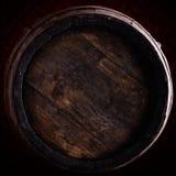 Wine barrel over vintage background Royalty Free Stock Images