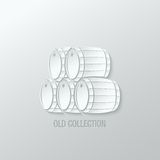 Wine barrel paper cut design background Royalty Free Stock Photos