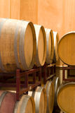 Wine barrel rack royalty free stock photo