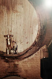 Wine in the barrel Stock Photography