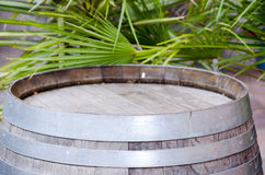 Wine barrel. Standing on the street royalty free stock photos