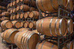 Wine Barrel Storage Royalty Free Stock Photos