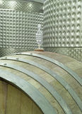 Wine Barrel and Vats stock photography