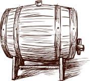 Wine barrel vector illustration