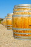 Wine Barrel at a Vinyard Royalty Free Stock Image