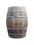 Wine barrel on white Royalty Free Stock Image