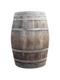 Wine barrel on white. Background Royalty Free Stock Image