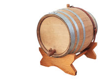 Wine barrel on white. Background Royalty Free Stock Image
