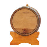 Wine barrel on white Royalty Free Stock Photography