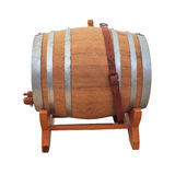 Wine barrel on white Royalty Free Stock Photos