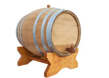 Wine barrel on white Royalty Free Stock Photo