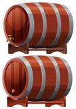 Wine Barrel on White Background vector illustration