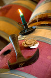 Wine Barrel - Wine cellar Stock Images