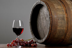 Wine with barrel royalty free stock photos