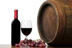 Wine with barrel Stock Photo