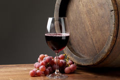 Wine with barrel Stock Images
