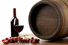 Wine with barrel Royalty Free Stock Image