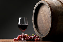 Wine with barrel Royalty Free Stock Photo