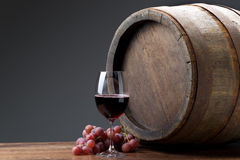 Wine with barrel Royalty Free Stock Photography