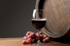 Wine with barrel Royalty Free Stock Images