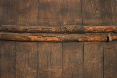 Wine barrel. Wooden texture. Background. Vintage wine barrel, wooden texture, great for background. Brown and orange colors royalty free stock photography