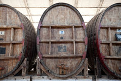 Wine Barrells Royalty Free Stock Photos