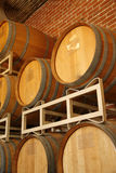 Wine Barrels. In winery storage.California Royalty Free Stock Images