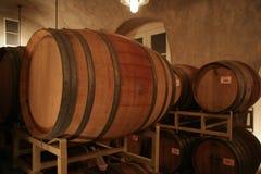 Wine barrels. Cellar full of wine barrels royalty free stock images