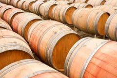 Wine Barrels. Oak barrels at a California winery royalty free stock images