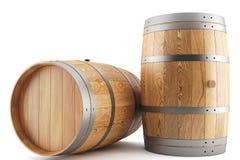 Wine barrels. 3d render of two wine barrels Royalty Free Stock Photos