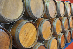 Wine barrels Stock Photo