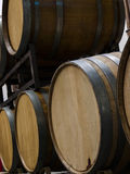 Wine Barrels. Stacked in cellar area of vinery in Palosade, Colorado Royalty Free Stock Image