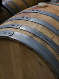 Wine Barrels. Stacked in cellar area of vinery in Palosade, Colorado Royalty Free Stock Photography