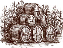 Wine barrels Royalty Free Stock Images