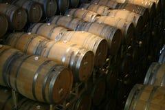 Wine Barrels. Wine Cellar in Napa Valley Stock Images