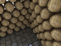 Wine barrels. Royalty Free Stock Images