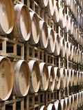 Wine Barrels. Stacked for aging new wine Royalty Free Stock Photography