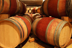 Wine barrels. In a wine cellar Royalty Free Stock Photo