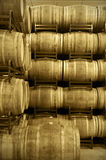 Wine barrels in an aging cellar Royalty Free Stock Photography