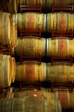 Wine barrels in an aging process Royalty Free Stock Images