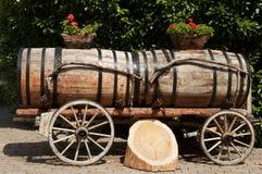 Wine Barrels in Aigle, Switzerland Stock Images