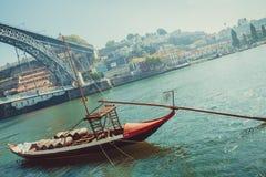 Wine Barrels Boat Stock Images