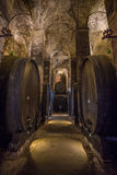 Wine barrels (botti) in a Montepulciano cellar, Tuscany Stock Image