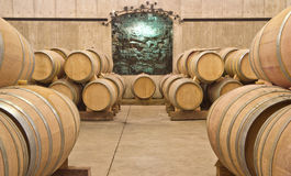Wine Barrels in a Cellar Royalty Free Stock Images