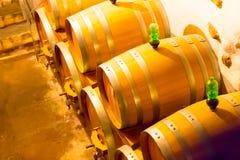 Wine barrels in cellar Royalty Free Stock Image