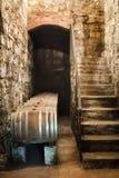 Wine Barrels in cellar royalty free stock photos