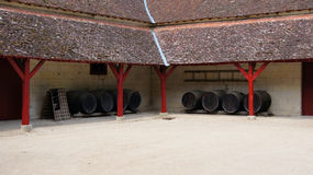 Wine barrels at Chateau Chenonceau in Loire Valley Stock Images