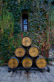 Wine barrels at Chateau Montelena Royalty Free Stock Photos