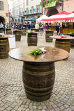 Wine barrels. Color image Royalty Free Stock Photography
